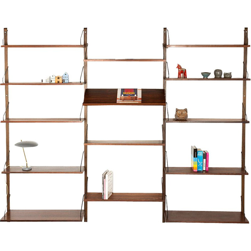 Vintage Danish rosewood wall unit by Poul Cadovius for Royal System