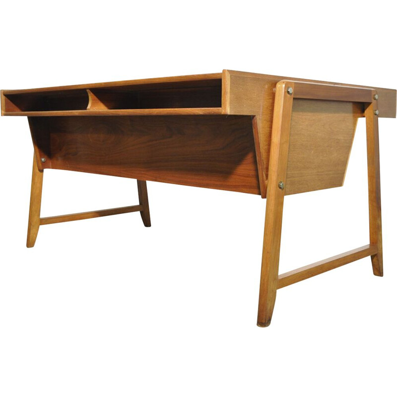 Vintage wooden desk by Clausen & Maerus for Eden, 1960s