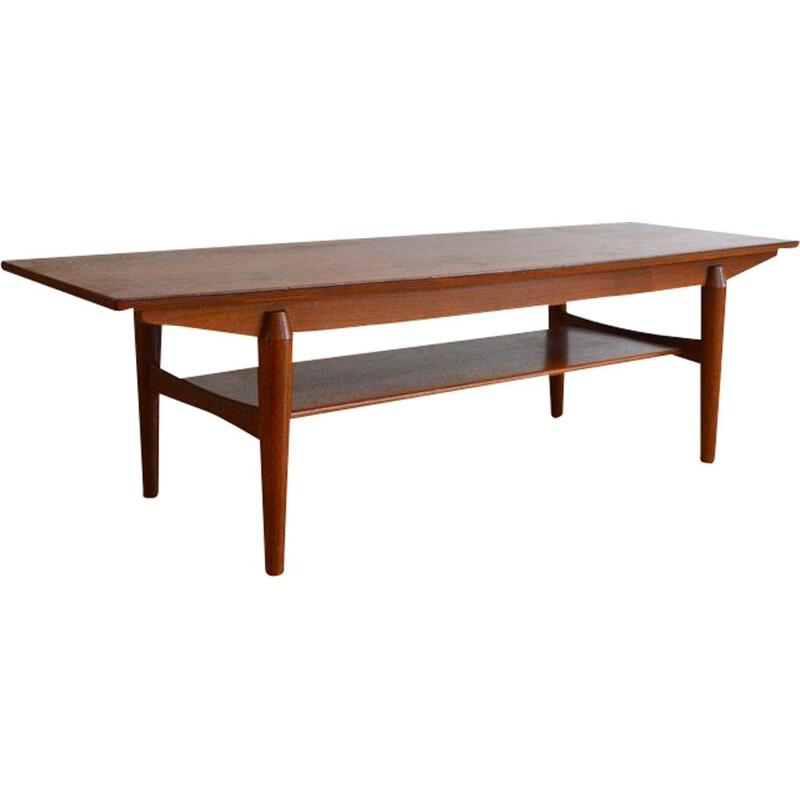 Vintage Scandinavian table  in teak and rosewood 1960s