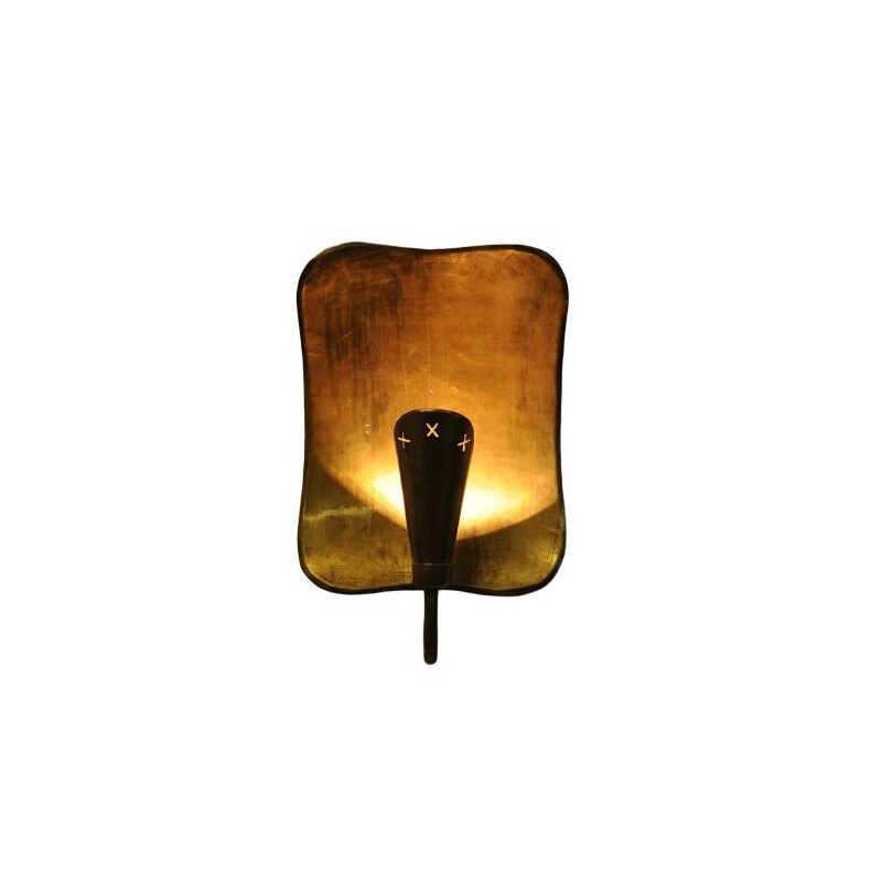 Vintage Brass Wall lamp by Lars Holmström for Arvika, 1950 Sweden
