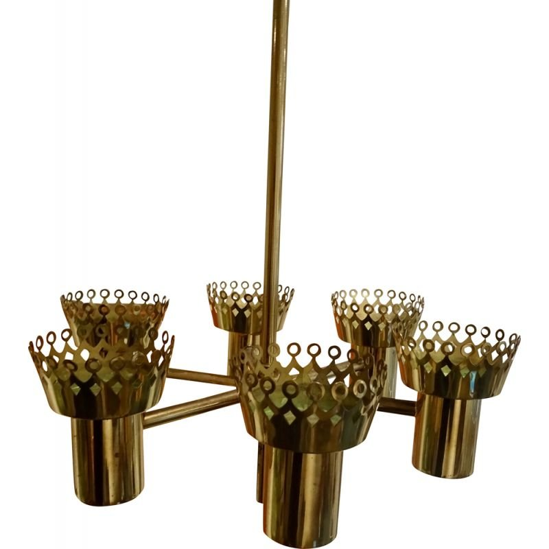 Pair of vintage candlesticks by Hans Agne Jakobsson for Markaryd AB, 1950