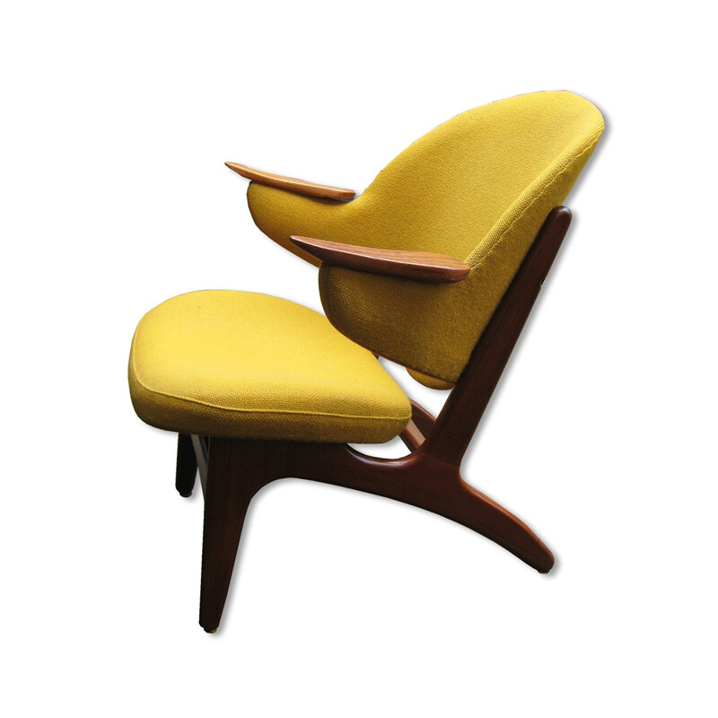 Matthes Furniture teak and fabric armchair, Carl Edward MATTHES - 1950s