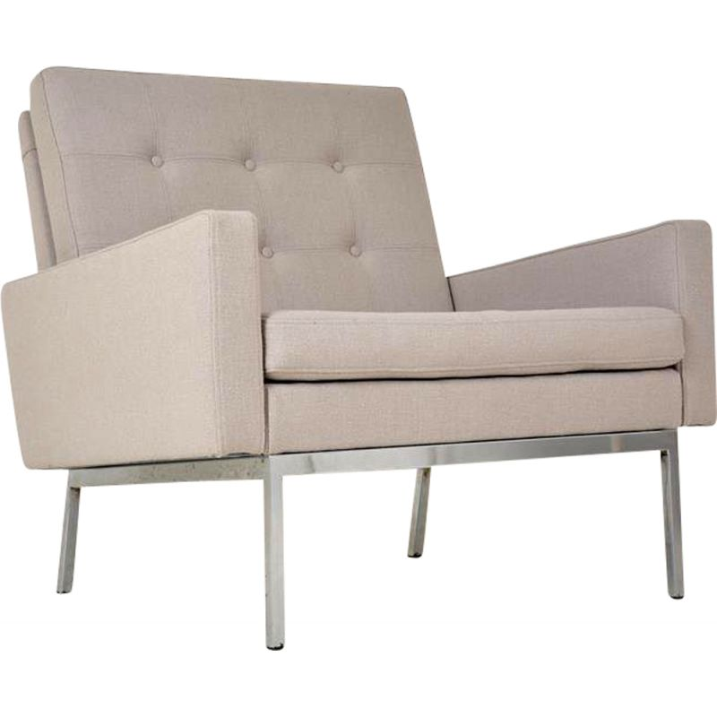 """Vintage beige """"parallel"""" chair by Florence Knoll, 1959"""