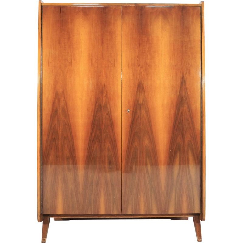 Vintage walnut wardrobe from Tatra, 1960s