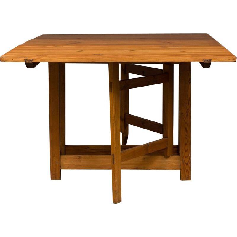 Vintage solid pine table, 1930s