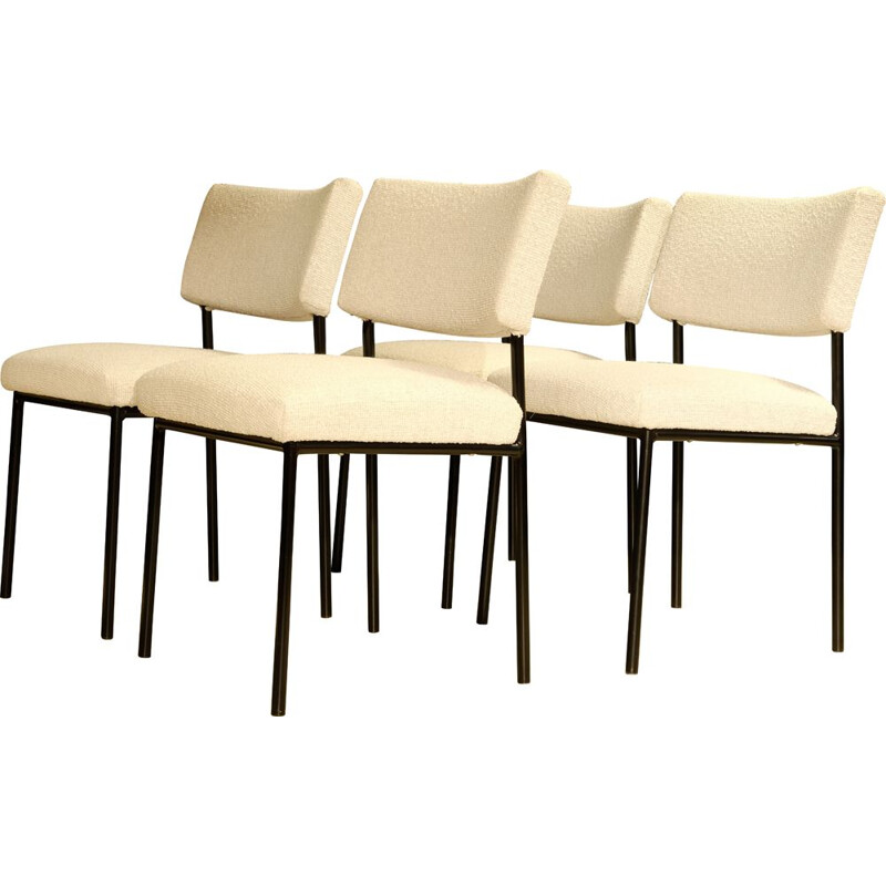 Set of 4 vintage chairs by J.A. Motte, Steiner publisher, 1960s