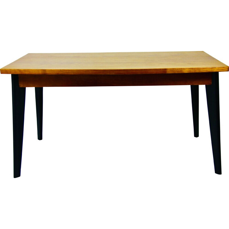 Vintage beech dining table, 1950s