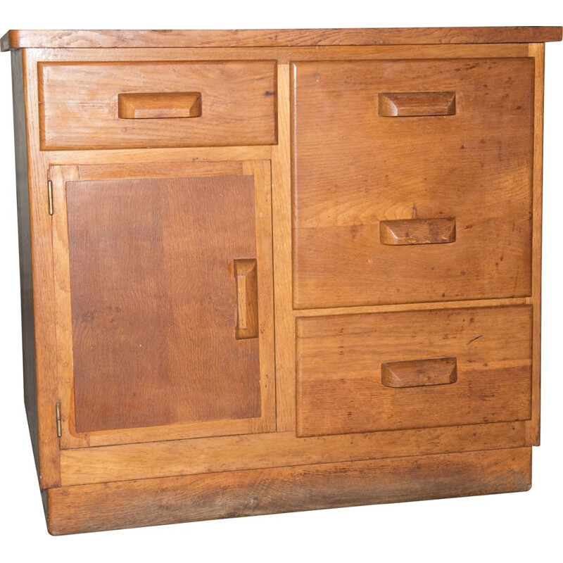 Vintage oak chest of drawers, 1940s
