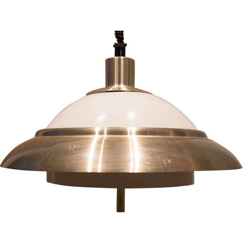 Vintage aluminium pendant light by Rolly, 1970s