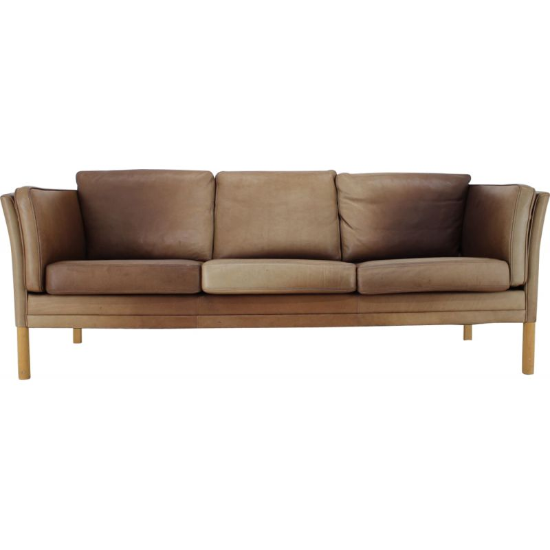 Vintage leather sofa by Georg Thams from Vejen Polstermøbelfabrik, 1960s