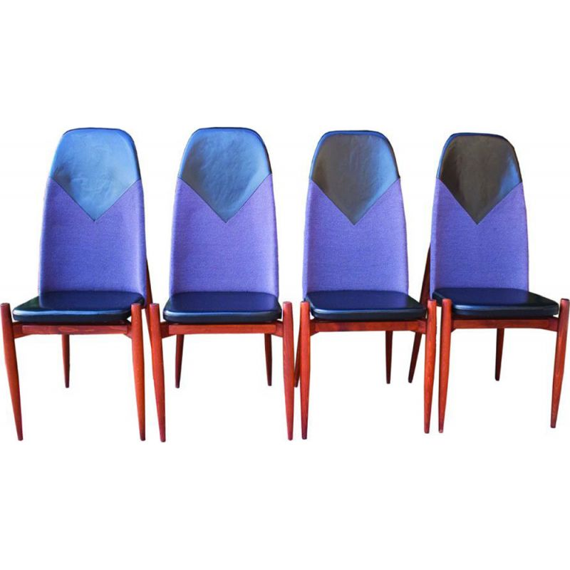 Set of 4 vintage dining chairs by Miroslav Navratil, 1960s