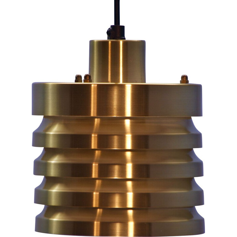 Vintage pendant lamp in brass, 1970s