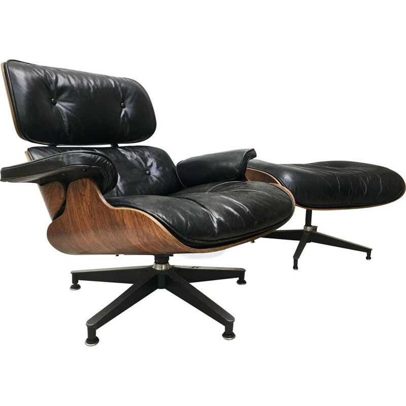 Vintage lounge chair 670-671 Ray & Charles Eames 1970