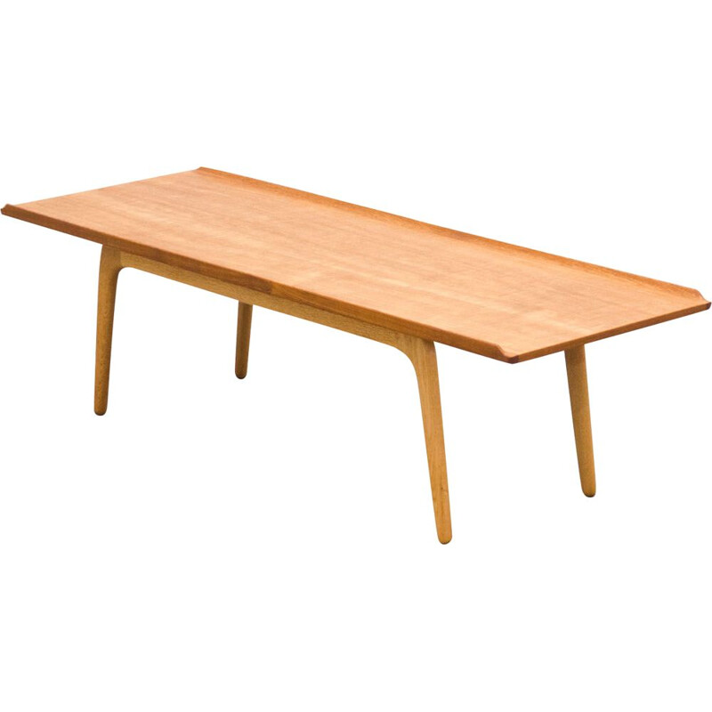 Vintage bovenkamp teak and oak coffee table by Aksel Bender Madsen 1960
