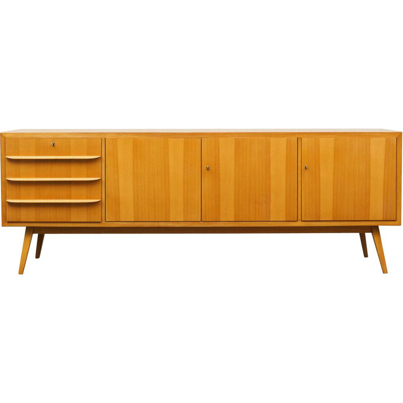 Large vintage sideboard in ashwood, 1950s