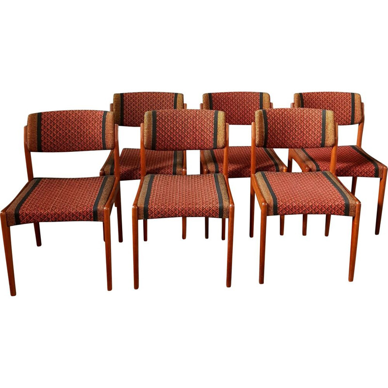 Set of 6 vintage chairs by H. W. Klein for Bramin-furniture, 1960s