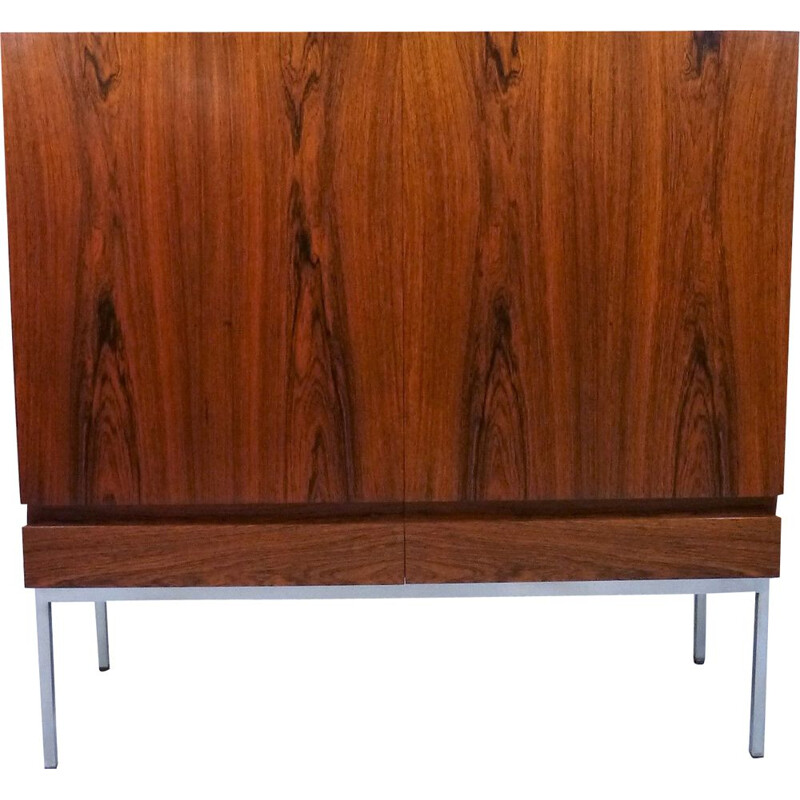 Rosewood vintage cabinet by Dieter Wäckerlin for Behr Möbler, Germany, 1950s