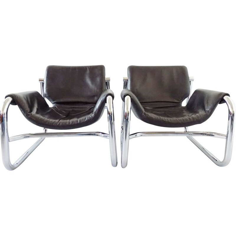 Vintage Alpha Sling lounge chair by Maurice Burke for Pozza