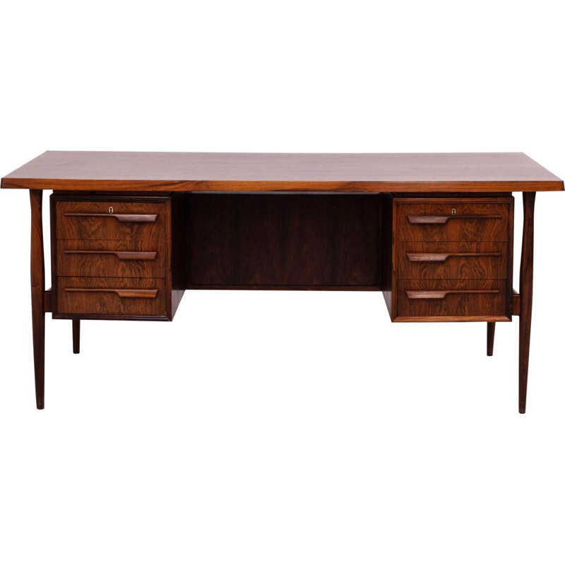Vintage rosewood desk with storage options 1960s