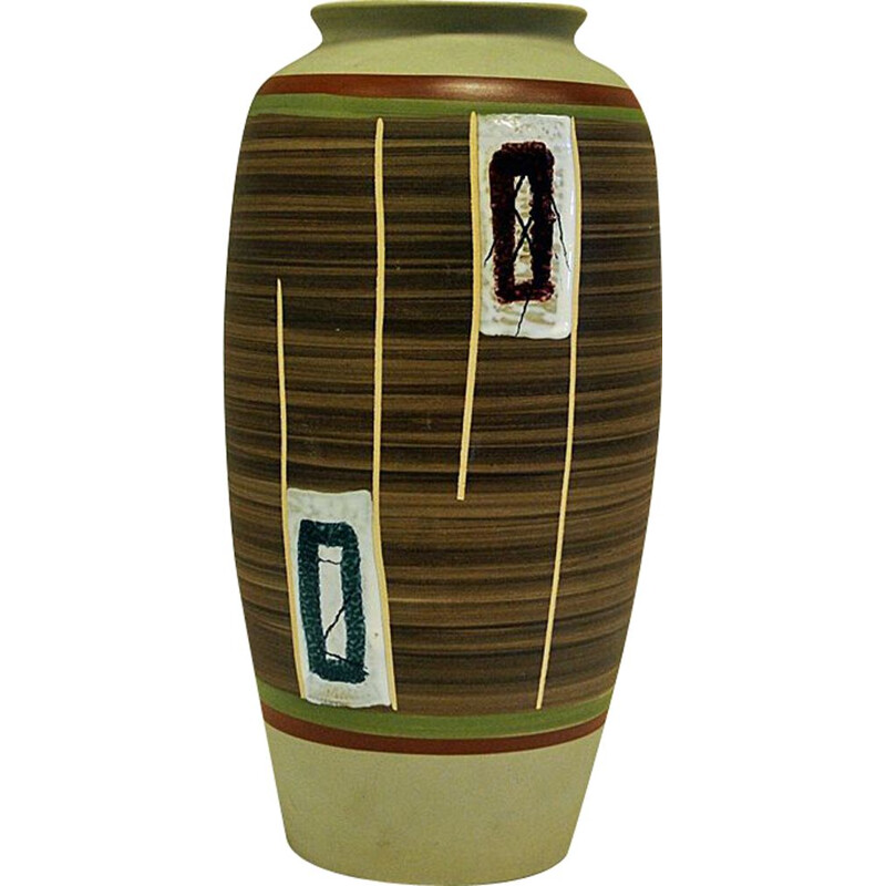 Vintage ceramic vase by Eduard Bay- W, Germany 1961