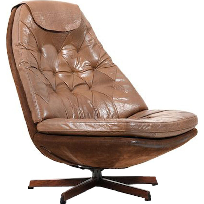 Vintage lounge chair by Madsen & Schubell 1960s