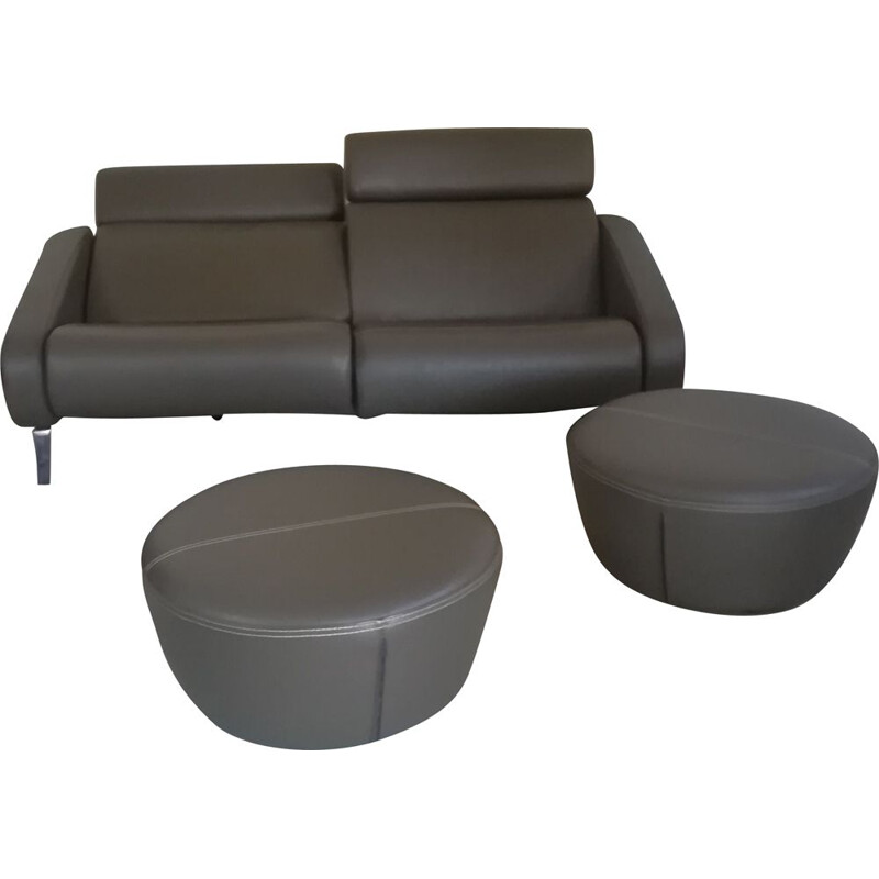 Steiner's vintage sofa and stools by R. Tapinassi and M. Manzoni, post 2000