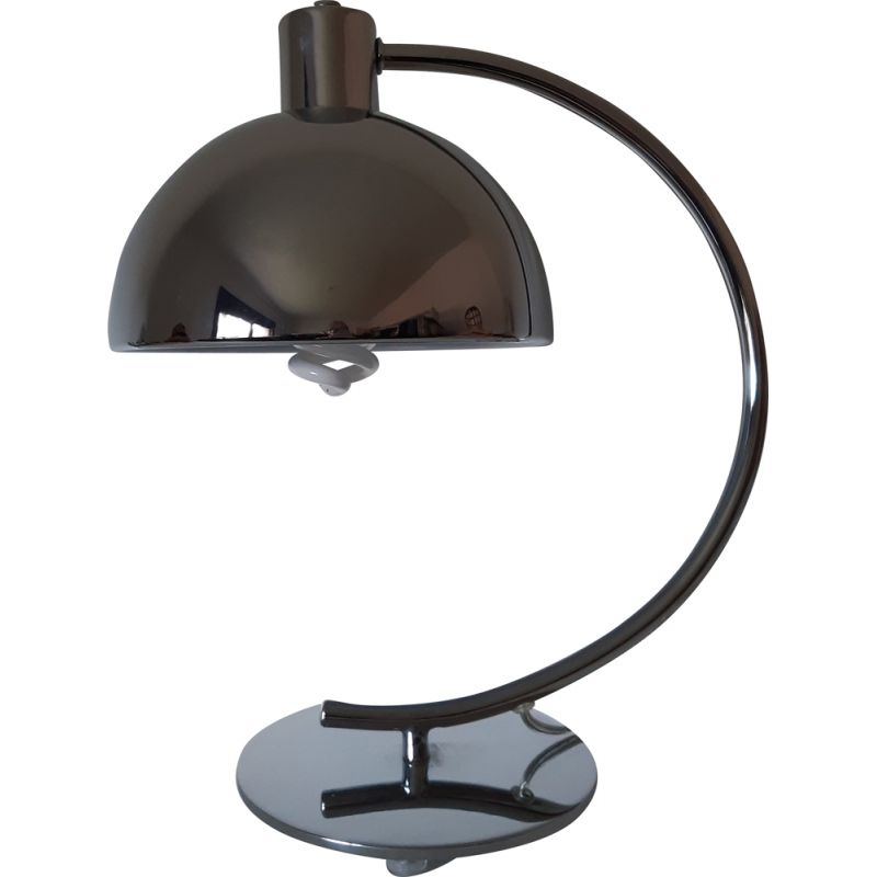 Chrome vintage table lamp