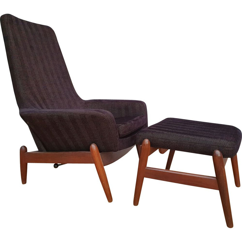 Danish vintage armchair by Madsen & Schubell, 1970s