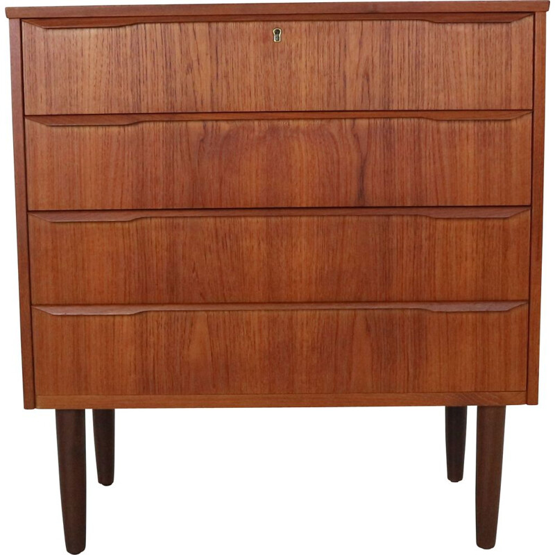 Vintage Danish Chest of Four Drawers in Teak, 1960