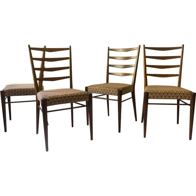 Vintage set of 5 Chairs ST09 by Cees Braakman 1960s