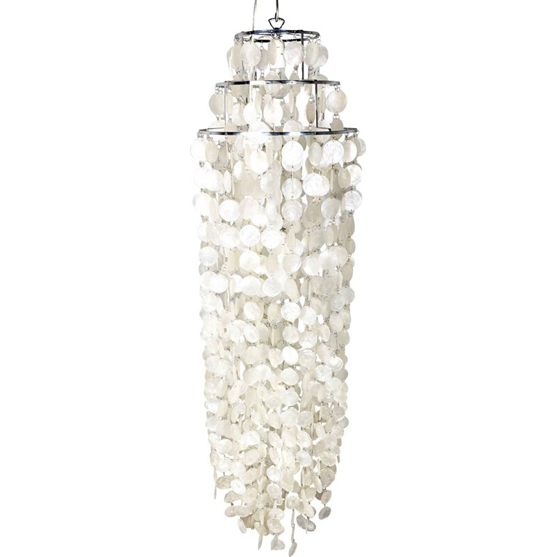 Vintage Mother of Pearl chandelier, 1960s