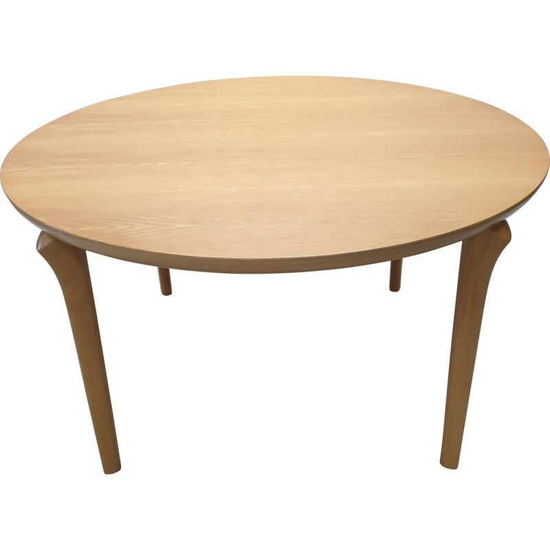 Vintage Beech Round Dining Table from Cassina, 1994