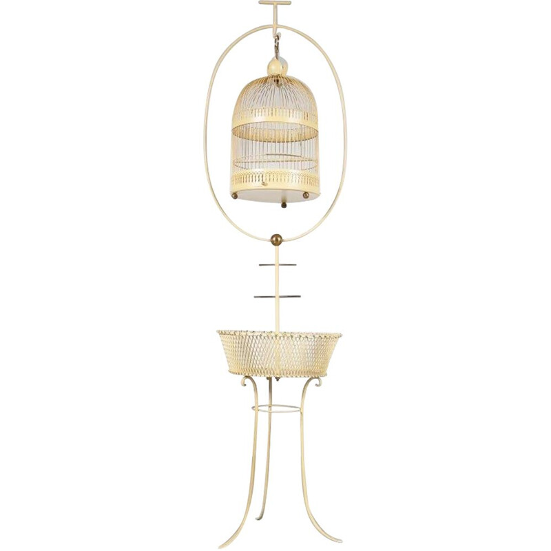Unique Metal Bird Cage on Stand 1950