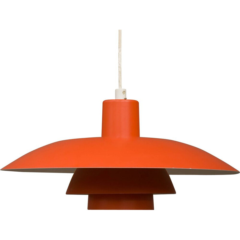 Vintage red pendant lamp by Poul Henningsen