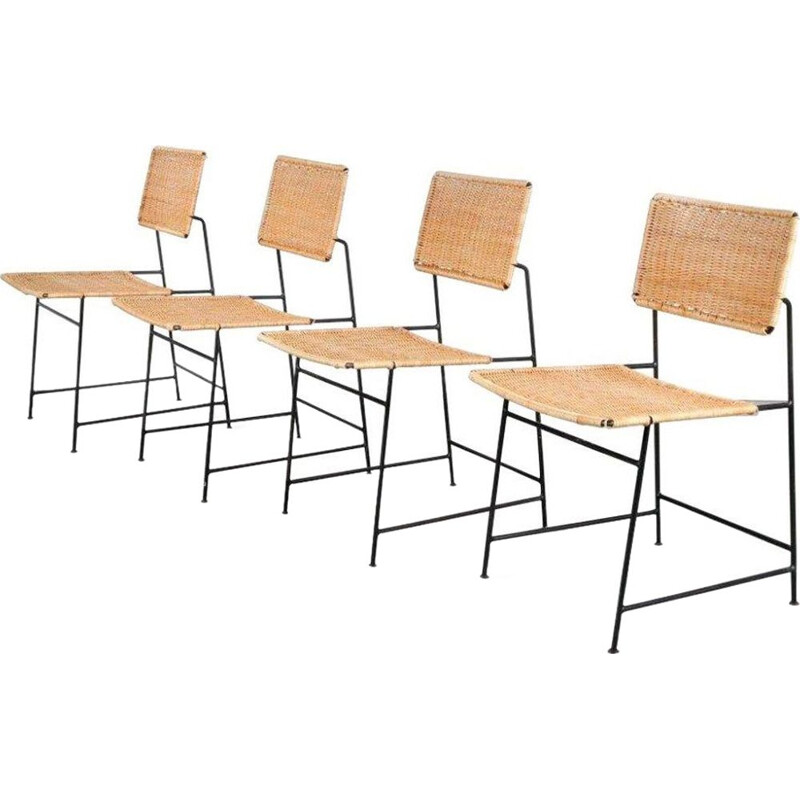 "Set of 4 vintage ""SW88"" chairs"" by Herta Maria Witzemann for Wilde + Spieth, Germany, 1954"