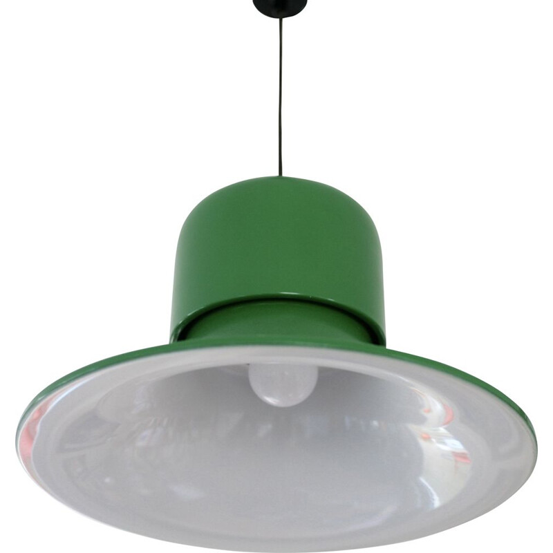 Vintage green pendant light by Stilnovo, Italy, 1970