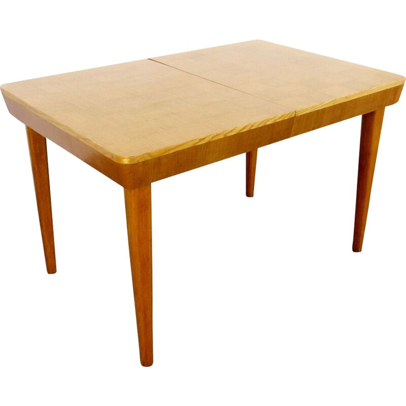Vintage wood dining table by Jindrich Halabala, 1940s
