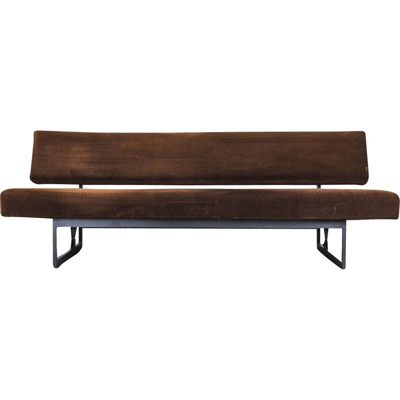 Vintage brown daybed by Dieter Wäckerlin for Idealheim, 1950s