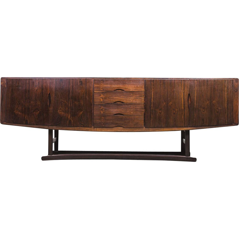 Vintage rosewood HB20 sideboard by Johannes Andersen for Hans Bech, 1960s