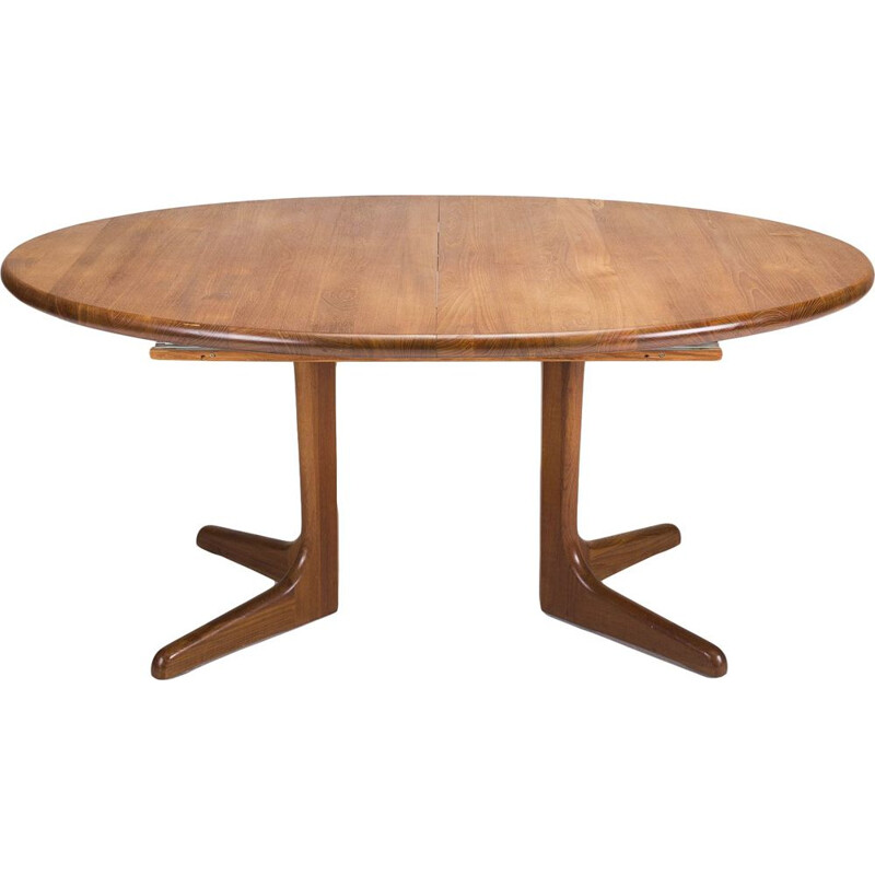 Vintage danish teak dining table, 1960