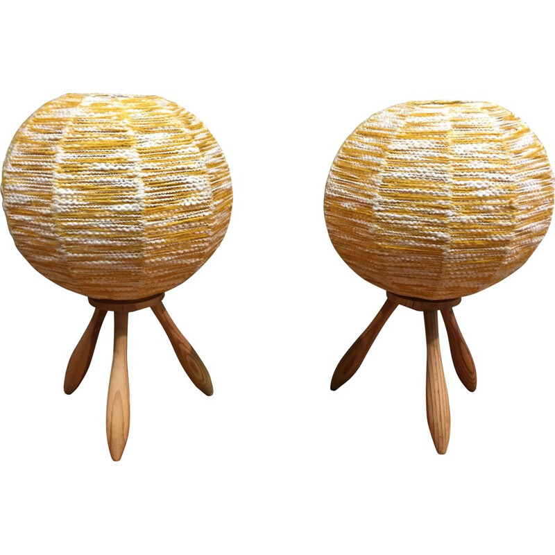 Vintage Scandinavian lamp duo 1950