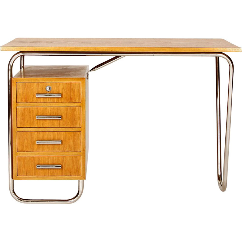 Functionalist Tubular Steel Desk, 1930s