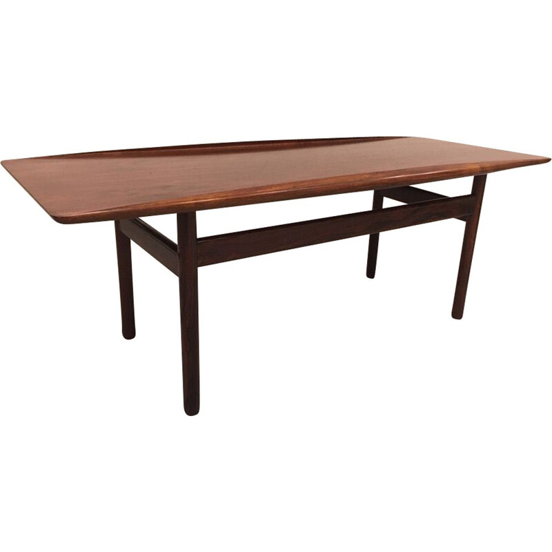 Vintage rosewood coffee table for Poul Jeppesen Grete Jalk Denmark 1950