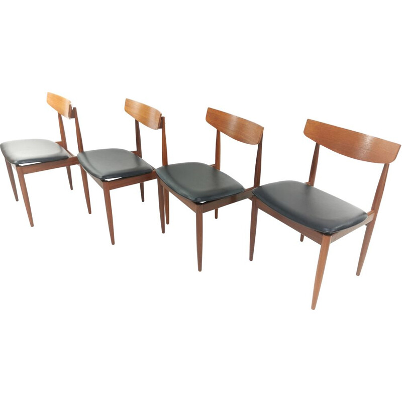 Set of 4 vintage G Plan Dining Chairs Kofod Larsen 1960