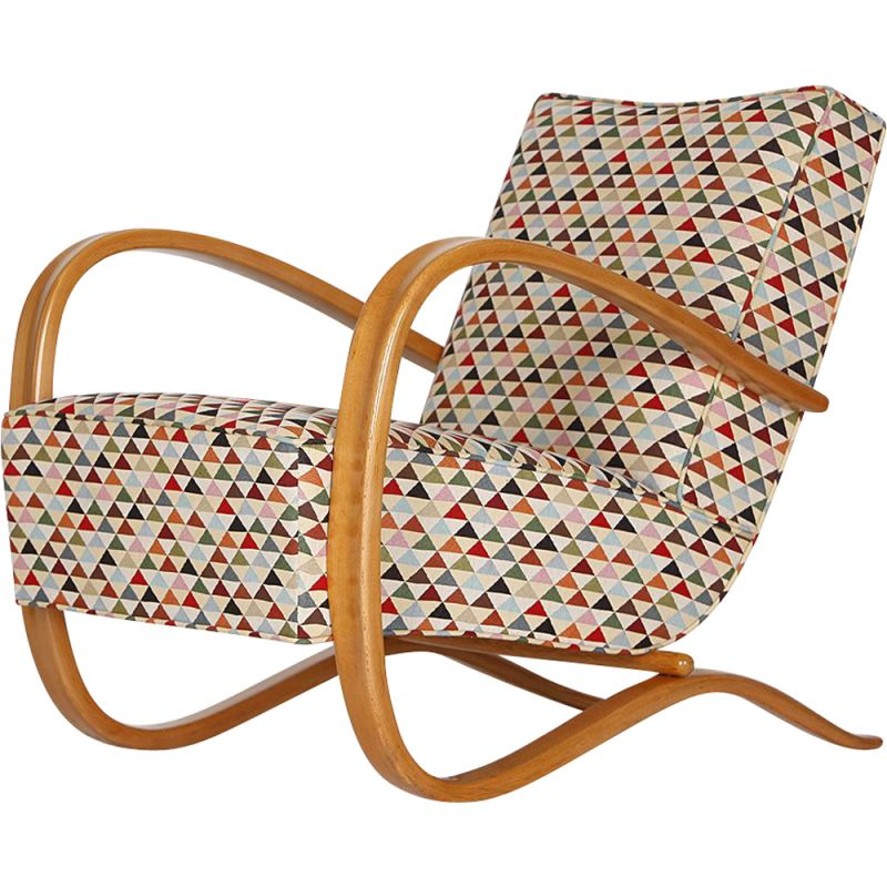 Vintage armchair H-269 by Jindrich Halabala for Spojene UP Zavody