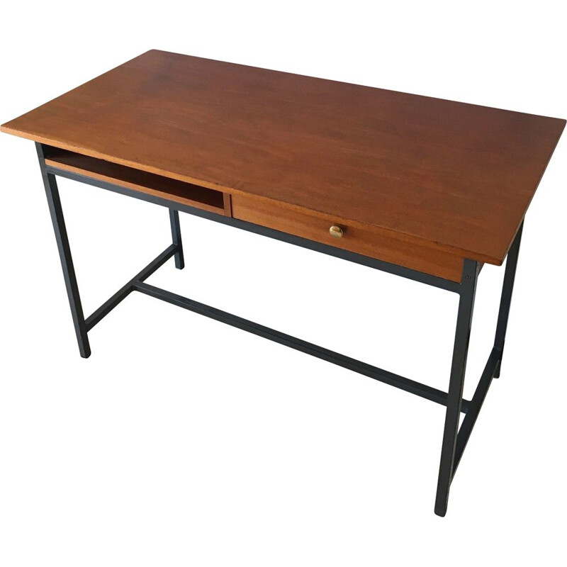 Vintage Modernist steel desk office, 1950