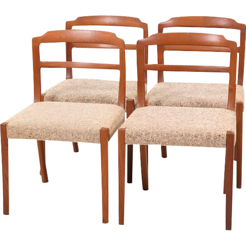 Set of 4 vintage Dining Chairs in Teak by Ole Wanscher for Cado