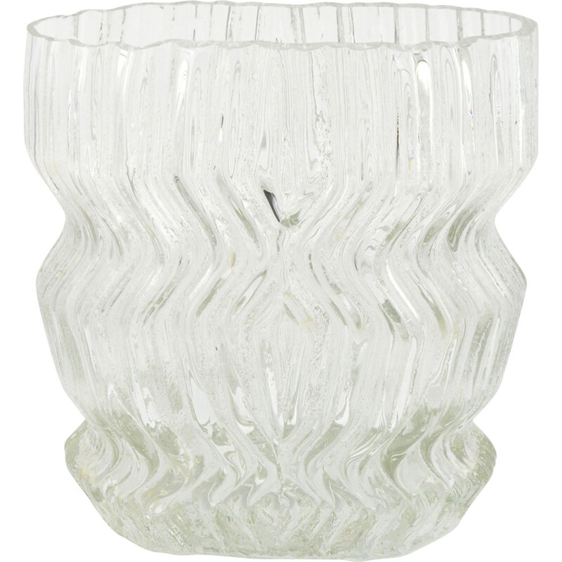 Vintage Large glass vase by Tapio Wirkkala for Rosenthal Studio Line, Germany 1960s