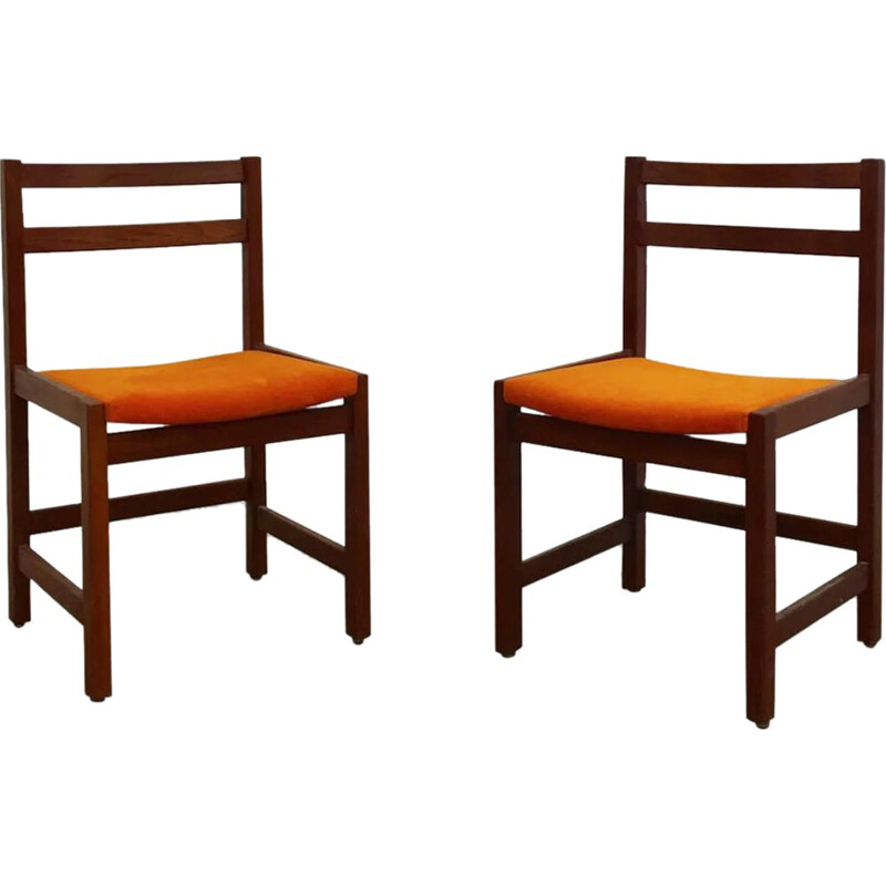 Set of 2 vintage chairs for Ulferts, Sweden, 1960S