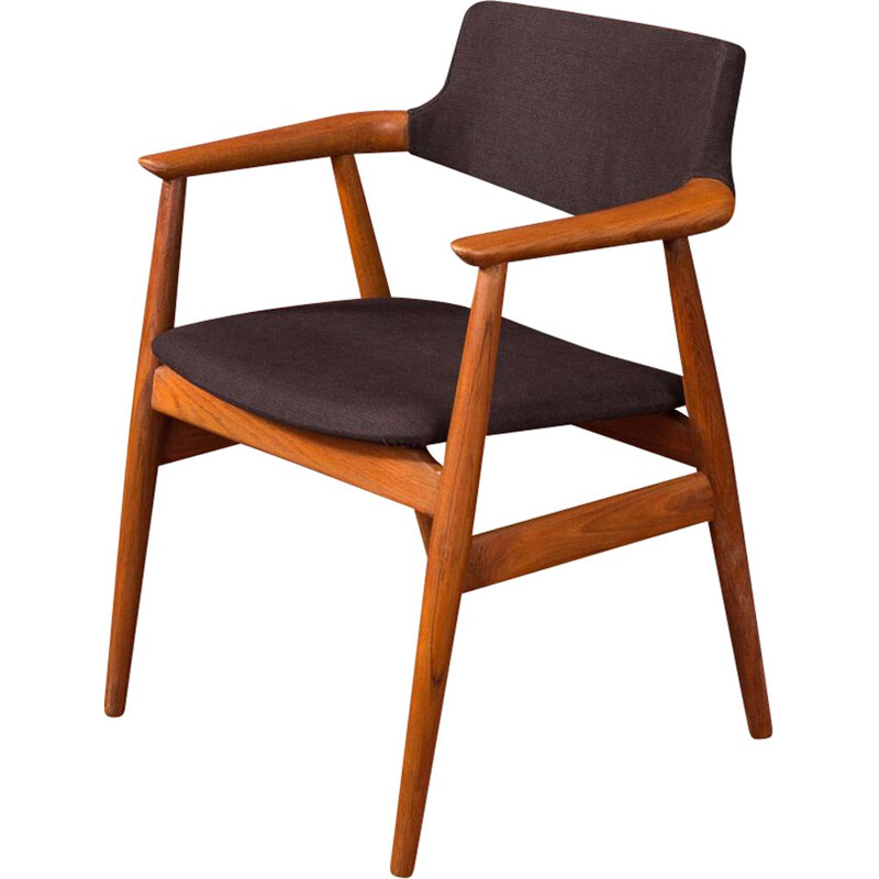 Vintage teak chair by Svend Aage Eriksen for Glostrup, 1960s